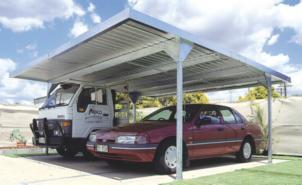 Double Carport Garage Shed.